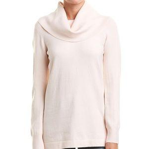 Long sleeve blush pink cowl neck tunic sweater